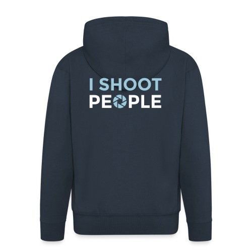 I shoot people - Men's Premium Hooded Jacket