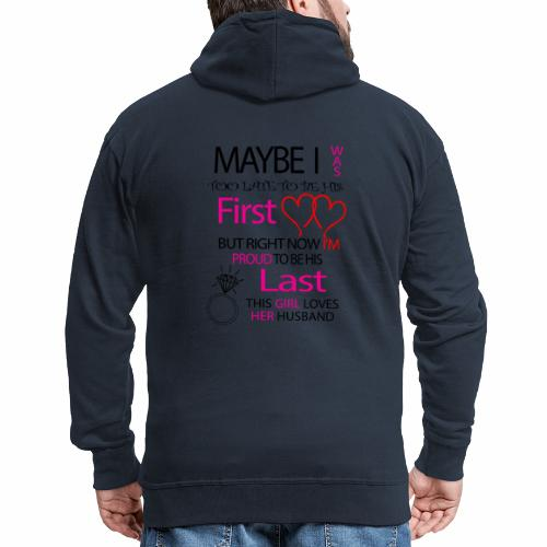 Ich liebe meinen Mann - Geschenkidee - Men's Premium Hooded Jacket