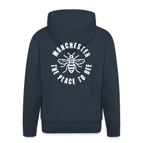 Manchester - The Place to BEE - Men's Premium Hooded Jacket