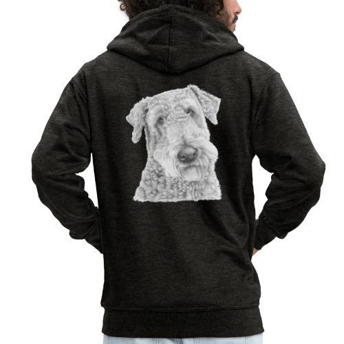 airedale terrier - Herre premium hættejakke