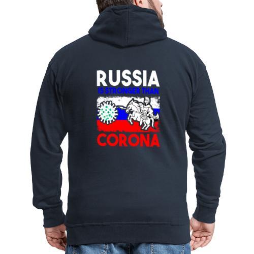 Russia against Corona - Männer Premium Kapuzenjacke