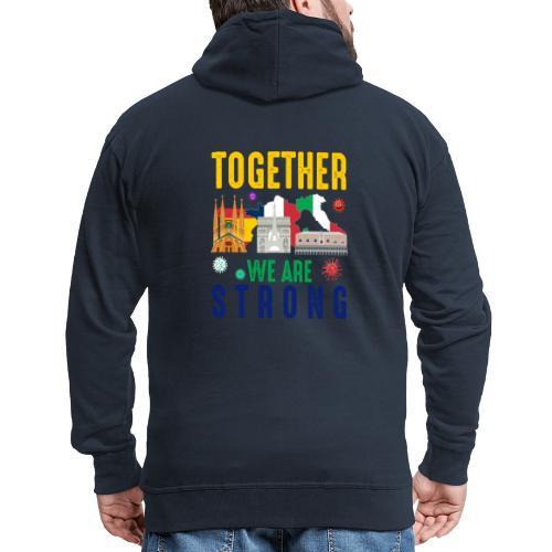 Together against Corona - Männer Premium Kapuzenjacke