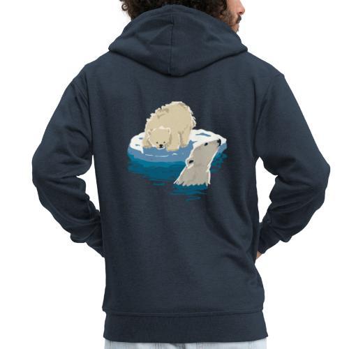 Polar bears - Men's Premium Hooded Jacket