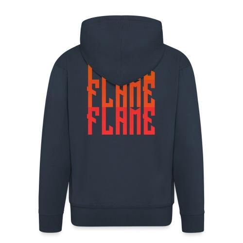 maglietta_flame_flame_flame - Felpa con zip Premium da uomo