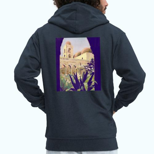 Palermo Vintage Travel Poster - Men's Premium Hooded Jacket
