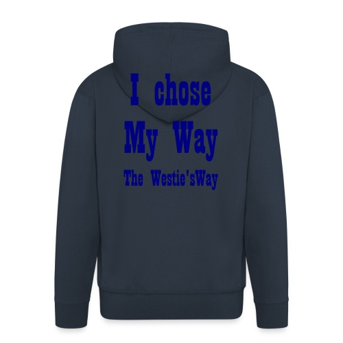 I chose My Way Navy - Men's Premium Hooded Jacket