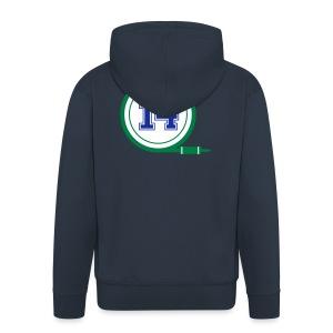 D14 Alt Logo - Men's Premium Hooded Jacket