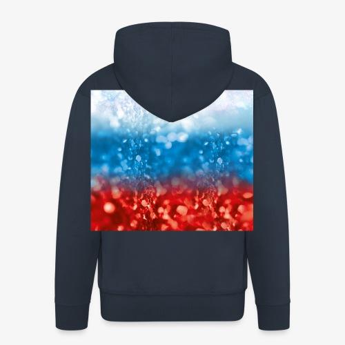05 Russland Flagge Fahne Glitzer Russia - Männer Premium Kapuzenjacke