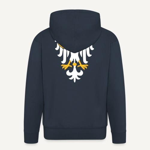 Orzeł Piastowski - Rozpinana bluza męska z kapturem Premium