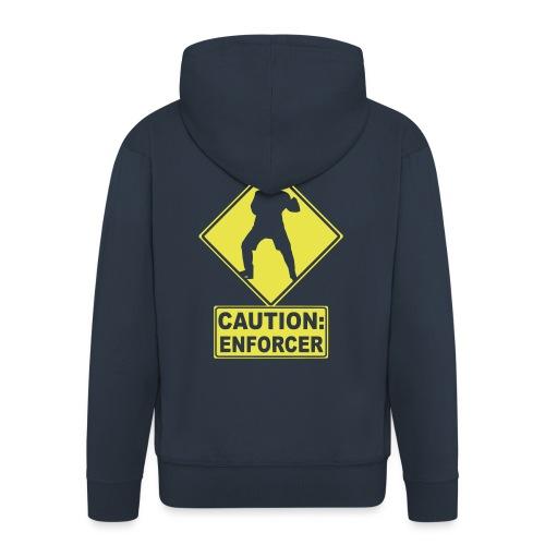 CAUTION: Hockey Enforcer - Men's Premium Hooded Jacket