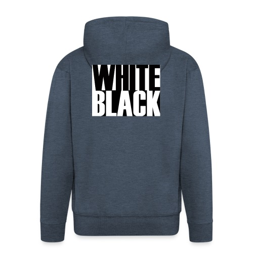White, Black T-shirt - Mannenjack Premium met capuchon