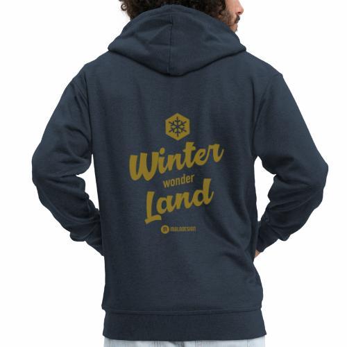 Winter Wonder Land - Miesten premium vetoketjullinen huppari