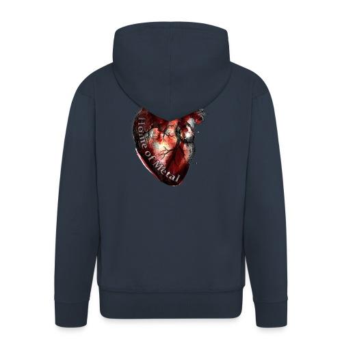 Heart of metal - Felpa con zip Premium da uomo