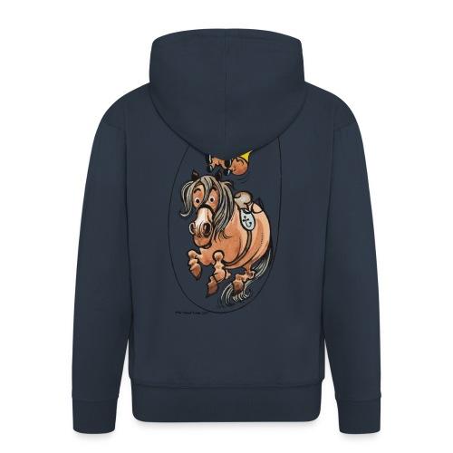 Thelwell Reiter Und Pony Machen Seilspringen - Männer Premium Kapuzenjacke