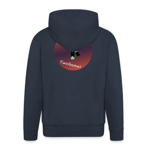 Hoodie met TwoGames logo - Mannenjack Premium met capuchon