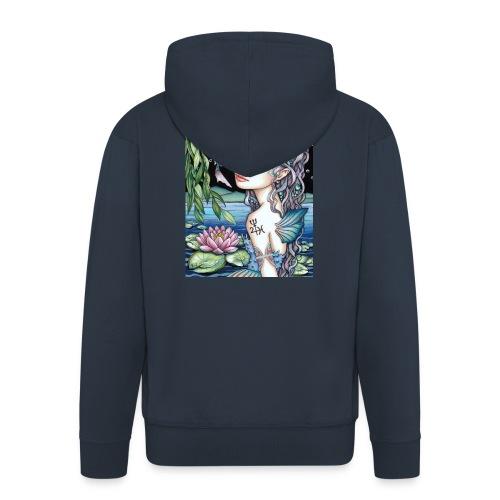 Pisces girl Fische Mädchen - Men's Premium Hooded Jacket