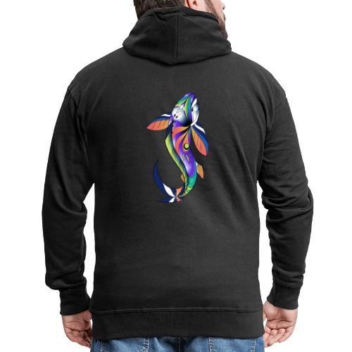Regenbogen Fisch - Männer Premium Kapuzenjacke