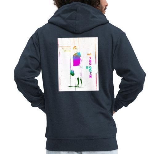 onthebeach - Rozpinana bluza męska z kapturem Premium