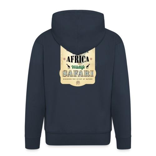 Zebras Africa Wildlife Safari Afrika Abenteuer - Men's Premium Hooded Jacket