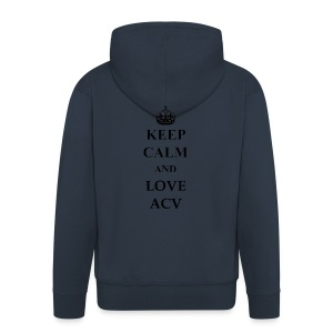 Keep Calm and Love ACV - Männer Premium Kapuzenjacke