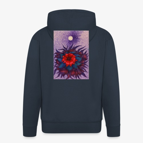 Space Flower - Rozpinana bluza męska z kapturem Premium