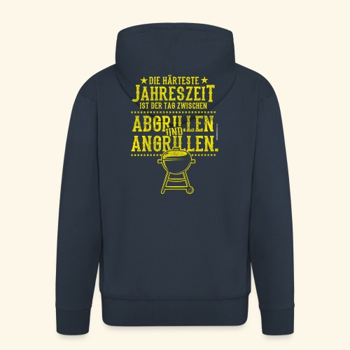 Grill-T-Shirt Grillsaison Abgrillen Angrillen - Männer Premium Kapuzenjacke