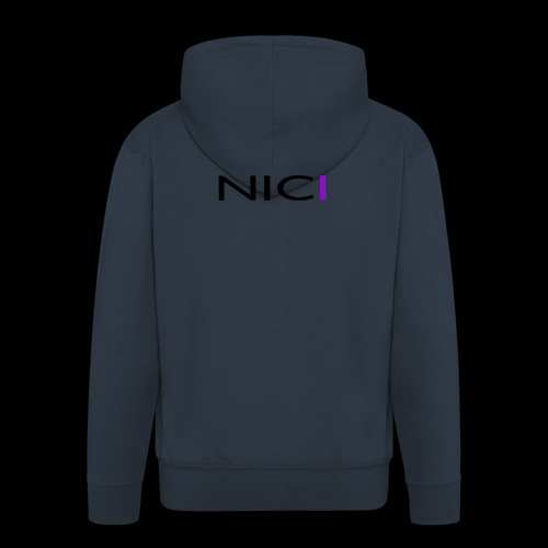 NICI logo Black - Miesten premium vetoketjullinen huppari