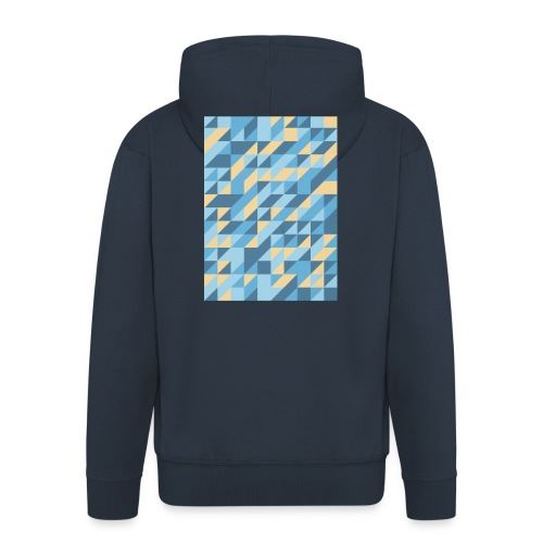 Triangle Design - Felpa con zip Premium da uomo