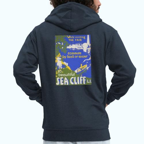 Lake travel vintage poster - Men's Premium Hooded Jacket