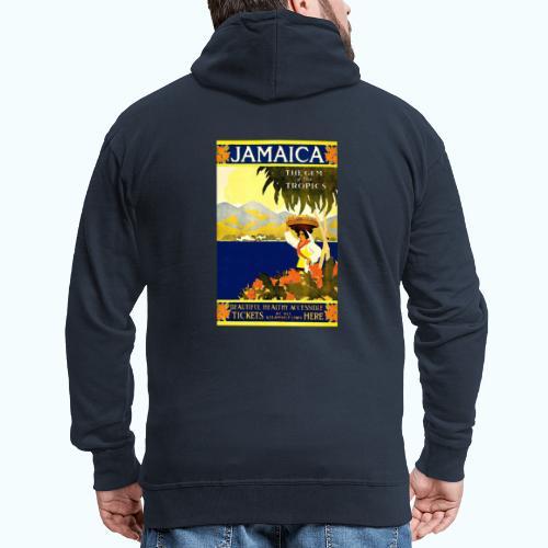 Jamaica Vintage Travel Poster - Men's Premium Hooded Jacket