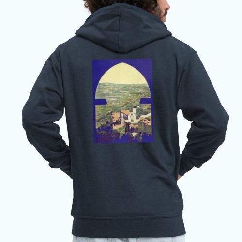 Tuscany vintage travel poster - Men's Premium Hooded Jacket