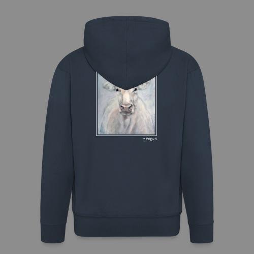 Kuh-Portrait - vegan - Männer Premium Kapuzenjacke