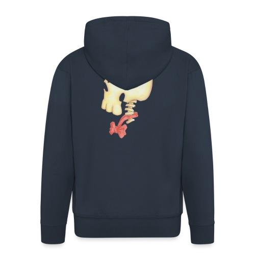 Bow Tie Skull Tee - Men's Premium Hooded Jacket