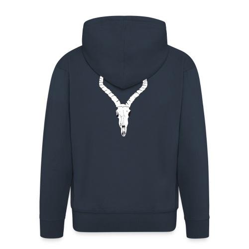Antelope ANIMAL skull - Men's Premium Hooded Jacket