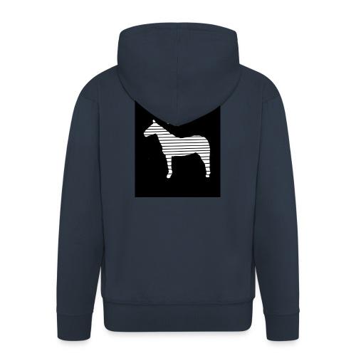 Pferde Herz - Männer Premium Kapuzenjacke