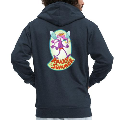 Mischievous mosquito ready to bite you in summer - Men's Premium Hooded Jacket