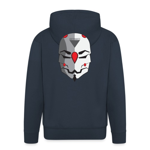Greyfawkes logo colored - Men's Premium Hooded Jacket