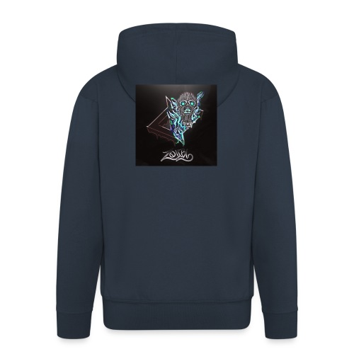Space Zombii shirt logo design. - Chaqueta con capucha premium hombre