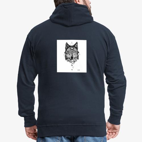 Wolf Grafik - Männer Premium Kapuzenjacke