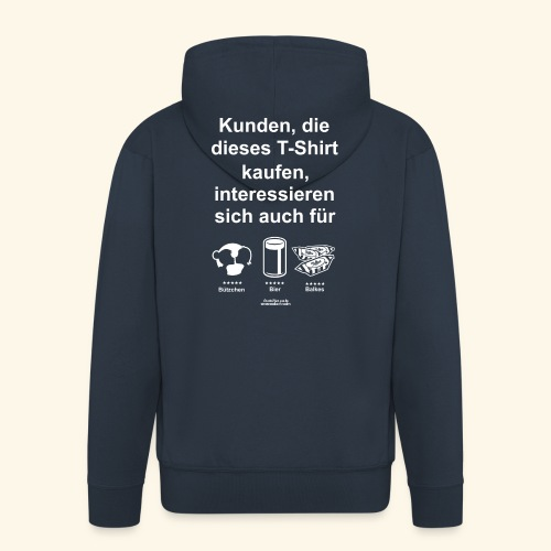 Karneval T Shirt Düsseldorf   Bier, Bützchen - Männer Premium Kapuzenjacke