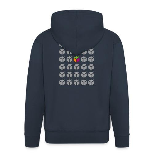 grid semantic web - Men's Premium Hooded Jacket