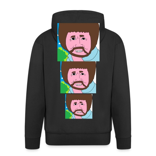Bob Ross - Men's Premium Hooded Jacket