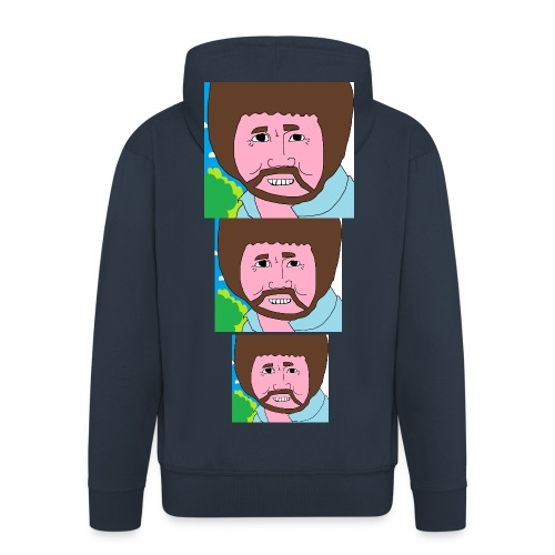 Bob Ross - Men's Premium Hooded Jacket