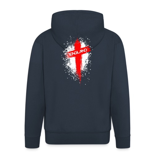England Painted-Red - Men's Premium Hooded Jacket