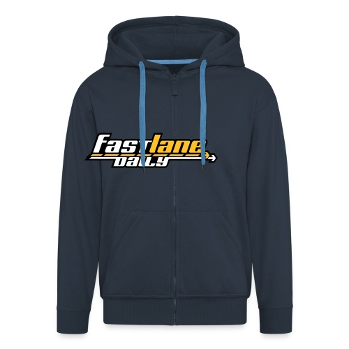 new fld logo3c - Men's Premium Hooded Jacket