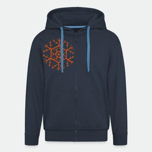 Snowflake molecule - Men's Premium Hooded Jacket