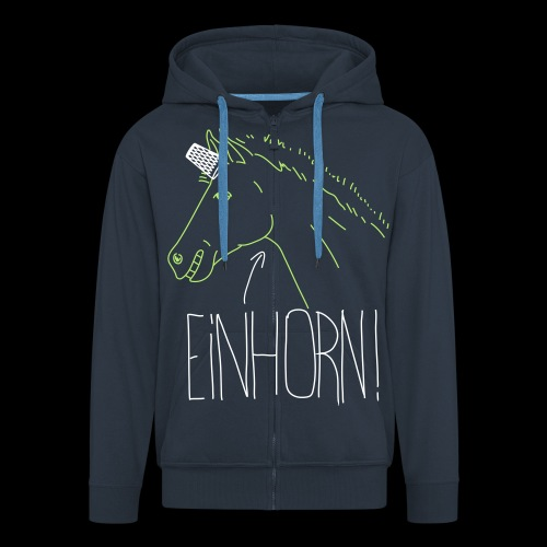 Einhorn - Männer Premium Kapuzenjacke