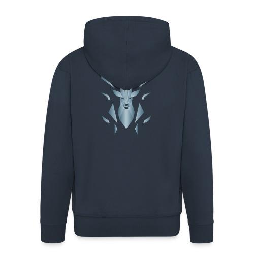 Cervo - Felpa con zip Premium da uomo