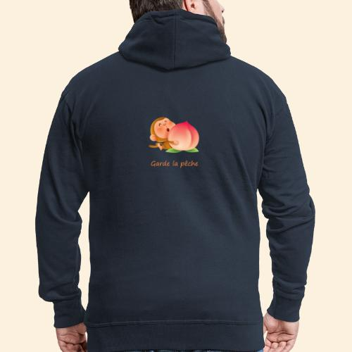 Singe Garde la pêche - Veste à capuche Premium Homme