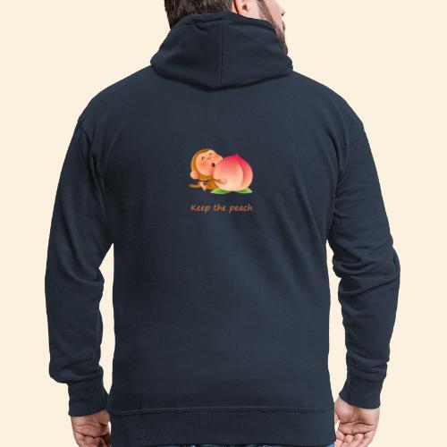 Monkey Keep the peach - Veste à capuche Premium Homme